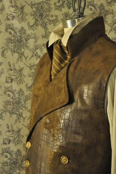 Men's Victorian/Steampunk Double Breasted Vest With an Air of Sweeney Todd