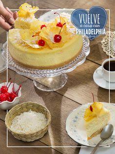 Te toca presumirles a tus amigas la nueva receta de Cheesecake que aprendiste con Philadelphia. #recetas #quesophiladelphia #cheesecake #piñacolada #cerezas #postre #café #recetas #recetasdulces Sweet Desserts, Sweet Recipes, Delicious Desserts, Dessert Recipes, Yummy Food, Chesee Cake, Cupcake Cakes, Cup Cakes, Salads