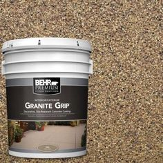Galaxy Quartz Decorative Flat Interior/Exterior Concrete Floor - The Home Depot Bring a stunning and new look to your floor with this durable BEHR Premium Galaxy Quartz Decorative Concrete Floor Coating. Concrete Floor Coatings, Concrete Bricks, Concrete Floors, Concrete Resurfacing, Patio Resurfacing Ideas, Stained Concrete Porch, Concrete Refinishing, Driveway Resurfacing, Concrete Overlay