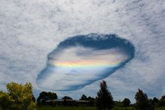 Fallstreak Hole cloud formation in Victoria from Korumburra in the east of the state - November, 2014.  Photo- David Barton.