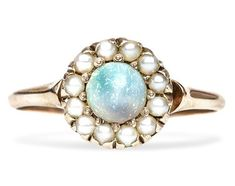 Antique, opal and pearl engagement ring from the Victorian Era #TrumpetandHorn #beautiful