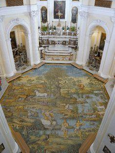 Pavimento maiolicato della Chiesa di San Michele