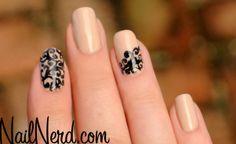 Beautiful Nude Filigree Nails | The Nail Design Blog