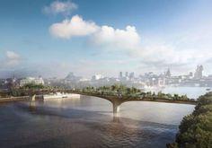 Un precioso #puente jardín peatonal que conectará #Londres con el #South #Bank #arquitectura #ingeniería de #caminos y #puentes