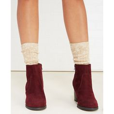 Leg Resource, Inc.  Marled Boot Sock With Contrast Stitch ($7.90) ❤ liked on Polyvore featuring intimates, hosiery, socks, oatmeal, wet seal, wet seal socks, marled socks and crew socks
