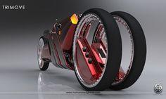 Futuristic Trimove Motorbike Concept by Mohammad Ghezel