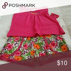 SHORT SET 2 piece ,Multicolored shorts with matching top. Matching Sets