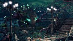 Fantasy Forest Phone Wallpaper Forest Landscape Water Dark ...