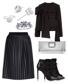 """Untitled #3336"" by janicemckay ❤ liked on Polyvore featuring James Lakeland, Anna K, Yves Saint Laurent, Roger Vivier and Givenchy"