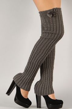 Knitted and Pom Poms Leg Warmers at Urbanog http://www.couponcutoff.com/store/urbanog/