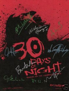 Cool 30 Days of Night Autographed poster, check out WWW.ALLAUTOGRAPH.COM