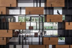 In Praise of Shadows: The Corten House by Pitsou Kedem Architects Design Furniture, Cabinet Furniture, Fine Furniture, In Praise Of Shadows, Pitsou Kedem, Muebles Living, Cabinet Shelving, Metal Shelves, Regal Design