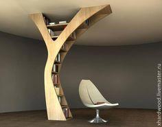 Купить Стеллаж из массива - коричневый, стеллаж из массива, массив дерева, полки из дерева, полка для книг