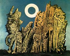 """""""La foresta grigia"""", Oil by Max Ernst (1891-1976, Germany)"""