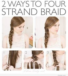 Fabulous four strand braid
