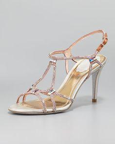 Crystal Slingback Sandal by Rene Caovilla at Neiman Marcus.