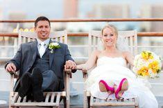 bride & groom, ship wedding venue - Figlewicz Photography