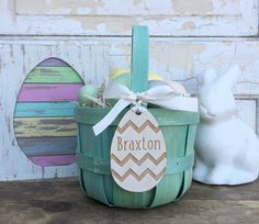Easter Basket Tag  Easter Name Tag  Easter Gift by EllitonCrossing
