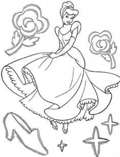 cinderella coloring pages printable princess