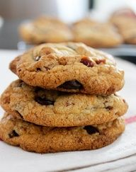 Brown Butter and BACON Dark Chocolate Chip Cookies (1) From: From Away (2) Webpage has a convenient Pin It Button