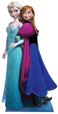 Frozen Anna and Elsa Cutout This duo create the Frozen Anna and Elsa Cutout and show the solidity of their sisterly bond after enduring a fearsome feud with each other after Elsa had left the kingdom of Arandelle in an eternal winter. Anna's sheer determination was able to convince her dark sister Elsa to release the kingdom from the freezing cold and at the same time rekindle their relationship. The Frozen Anna and Elsa Cutout is not only a great decoration for any location but also a…