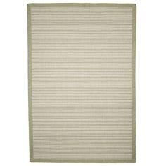 Casual Stripe Green Indoor/Outdoor Area Rug