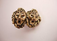 Vintage Lion Head Cufflinks Wedding Business by NeatstuffAntiques, $25.00
