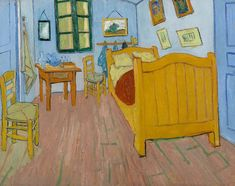 Van Gogh, la camera da letto, ottobre 1888. Olio su tela, 72.4 x 91.3 cm. Van Gogh Museum, Amsterdam.