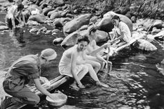 Army Nurses Washing Up in River - U947899INP - Rights Managed - Stock Photo - Corbis. Somewhere on Bataan, 1942.