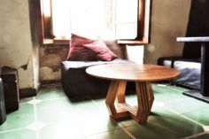 A Set of Tables & a Stool That Don't Require Tools for Assembly