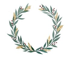 Wreath Making and Watercolor Workshop at Antique Taco — The Foxglove Studio Wreath Watercolor, Watercolor Flowers, Watercolor Paintings, Wreath Drawing, Flower Frame, How To Make Wreaths, Wedding Cards, Design Elements, Hand Lettering