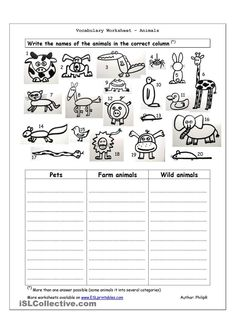 674d1e27b641d71717fc959ac4ce5211 Tame And Wild Animals Worksheet For Kindergarten on wild animals worksheets for kindergarten, adult and baby animals worksheet, animal and their babies worksheet,