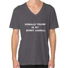 Trump Is My Spirit Animal Men's V-Neck