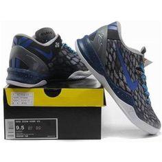 http://www.asneakers4u.com/ Nike Kobe 8 System Basketball Shoe Snake Gray/Black Sale Price: $67.20