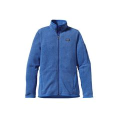 Women's Patagonia Better Sweater Jacket - Oasis Blue Jackets ($139) ❤ liked on Polyvore featuring activewear, activewear jackets, blue, patagonia and patagonia sportswear