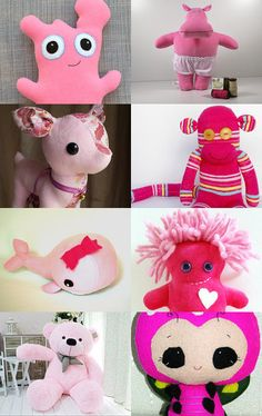 pink plush by Carmelisa D'Antone on Etsy--Pinned with TreasuryPin.com