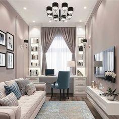 Room Design Bedroom, Home Room Design, Dream Home Design, Home Office Design, Home Interior Design, Living Room Designs, Living Room Decor, Bedroom Decor, House Design