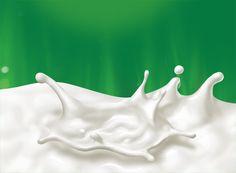 "Packaging illustrations for ""Activia"" dairy drinks Client: Strauss Group Ltd. Fruit Drinks, Healthy Drinks, Ice Cream Novelties, Milk Packaging, Packaging Design, Poster Background Design, Background Images, Food And Beverage Industry, Milk Splash"