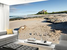 Bamburgh Castle wall mural living room preview