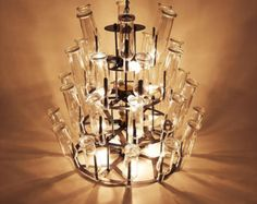 16 ou 20 carrés de lumière lustre industriel par IronLumberandLight