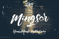 Mingser Font by Kreasi Malam on Creative Market