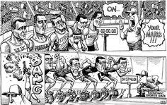 KAL's cartoon: this week, starting blocks