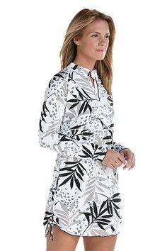 Favorite new beach essential. Ruche Swim Shirt - Print: Sun Protective Clothing - Coolibar
