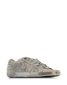 golden goose studded tennis shoes