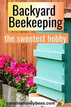 Backyard beekeeping as a hobby - Is it right for you? If the idea of having a beehive or your very own gets your thoughts buzzing - read on. Your goal of becoming a beekeeper may be closer than you think! #carolinahoneybees
