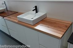 Nava 1500 Wall Hung Vanity featuring Reclaimed Timber Bench Top 2