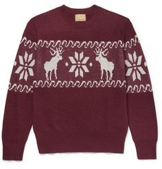 Levi's intarsia wool-blend sweater