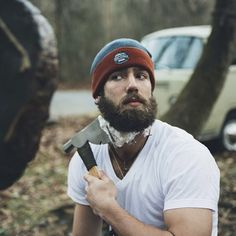 Beards. Men. The only real way to shave.