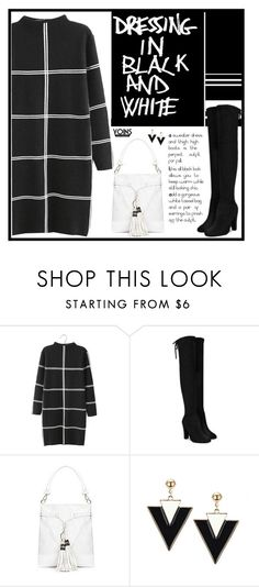"""Yoins - black and white"" by blueeyed-dreamer ❤ liked on Polyvore featuring yoins, yoinscollection and loveyoins"