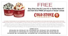 Pinned December 5th: Second ice cream free at #Cold Stone Creamery #coupon via The #Coupons App Ice Cream Coupons, Ice Cream Facts, Printable Coupons, Printables, Cold Stone Ice Cream, Ice Cream Smoothie, Cold Stone Creamery, Birthday Coupons, Yogurt Bar